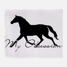 Horse Obsession Throw Blanket