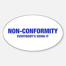 NON-CONFORMITY-HEL-BLUE Decal