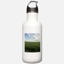 Alfalfa Field Bright Almost Clear Day Water Bottle