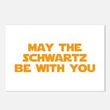 MAY-THE-SCHWARTZ-star-orange Postcards (Package of