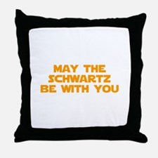 MAY-THE-SCHWARTZ-star-orange Throw Pillow