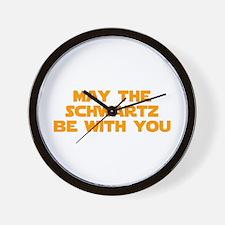 MAY-THE-SCHWARTZ-star-orange Wall Clock
