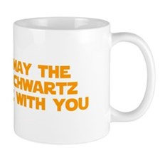 MAY-THE-SCHWARTZ-star-orange Mugs