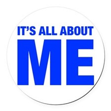 ITS-ME-HEL-BLUE Round Car Magnet