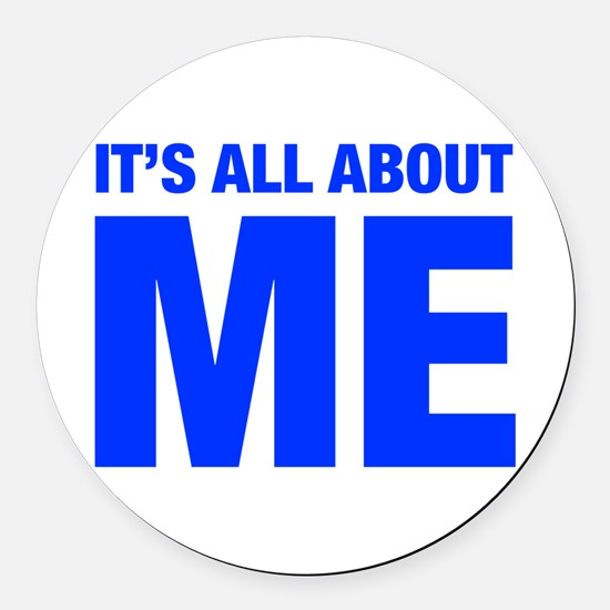 ITS-ME-HEL-BLUE Round Car Magnet