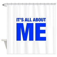 ITS-ME-HEL-BLUE Shower Curtain
