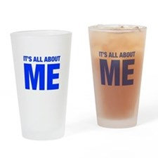 ITS-ME-HEL-BLUE Drinking Glass