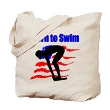 BORN TO SWIM Tote Bag