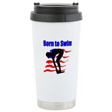 BORN TO SWIM Travel Mug