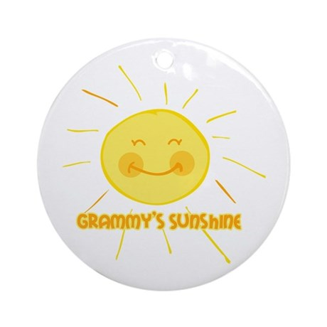 Grammy's Sunshine Ornament (Round)