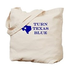 Turn Texas Blue Tote Bag