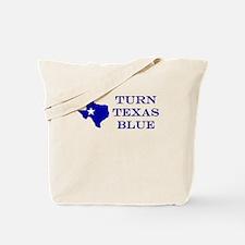 Turn Texas Blue Tote Bag