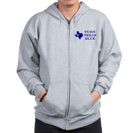 Turn Texas Blue Zip Hoodie