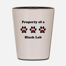 Property Of A Black Lab Shot Glass