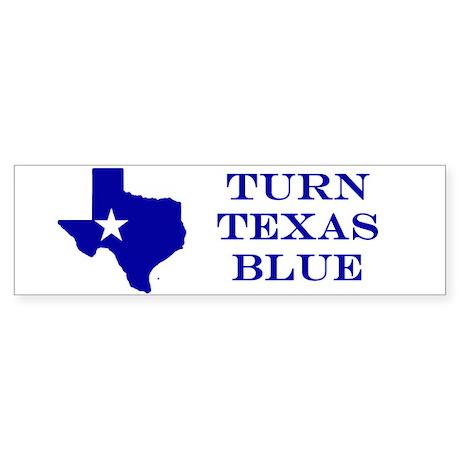 Turn Texas Blue Stkr Bumper Sticker