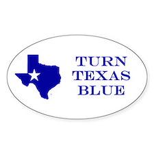 Turn Texas Blue Stkr Decal