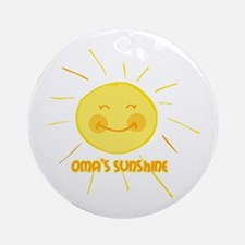 Oma's Sunshine Ornament (Round)