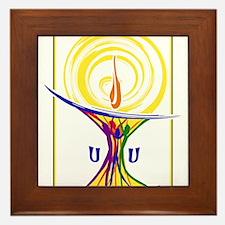 UU Unity Chalice Framed Tile