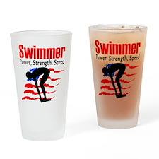 LOVE TO SWIM Drinking Glass