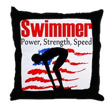LOVE TO SWIM Throw Pillow