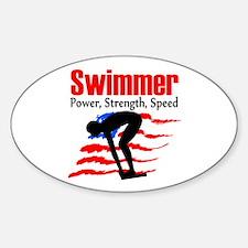 LOVE TO SWIM Sticker (Oval)