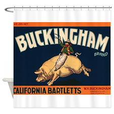 Vintage Fruit Crate Label Shower Curtain