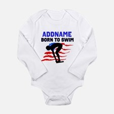 BORN TO SWIM Baby Suit