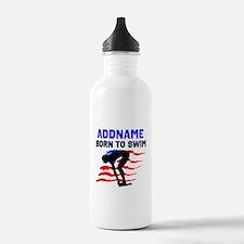 BORN TO SWIM Water Bottle