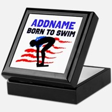 BORN TO SWIM Keepsake Box