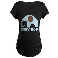 Cute Baby Boy Elephant Maternity T-Shirt