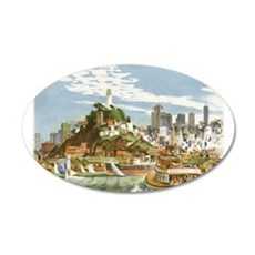 Vintage Travel Poster San Francisco Wall Decal