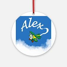 Aviator Alex Ornament (Round)