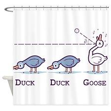 Duck, duck,goose Shower Curtain