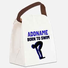 SWIMMER CHAMP Canvas Lunch Bag