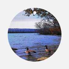 Autumn Lake Ornament (Round)