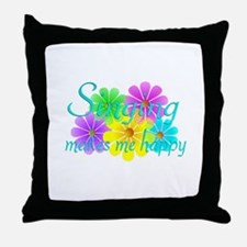 Singing Happiness Throw Pillow