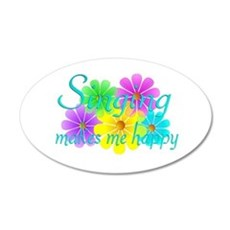 Singing Happiness Wall Decal