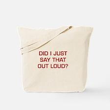 DID-I-JUST-SAY-EURO-DARK-RED Tote Bag