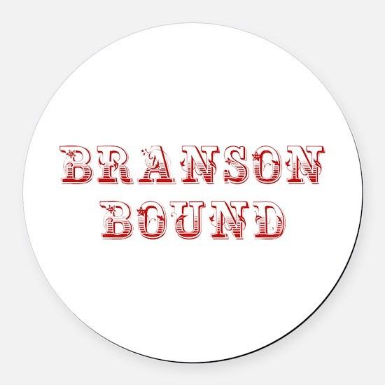 BRANSON-BOUND-MAX-DARK-RED Round Car Magnet