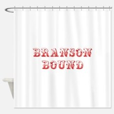 BRANSON-BOUND-MAX-DARK-RED Shower Curtain