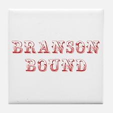 BRANSON-BOUND-MAX-DARK-RED Tile Coaster