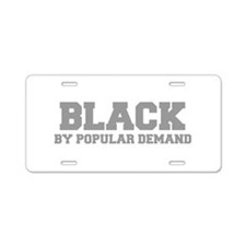 BLACK-FRESH-GRAY Aluminum License Plate