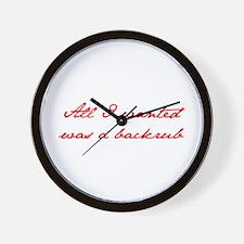 BACKRUB-jan-red Wall Clock