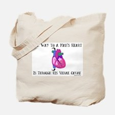 Way to a Man's Heart Tote Bag