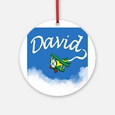 Aviator David Ornament (Round)