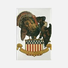 Vintage Thanksgiving Turkey And Eagle Magnets