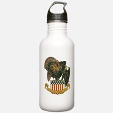 Vintage Thanksgiving Turkey And Eagle Water Bottle