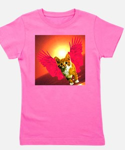 red wing cat Girl's Tee