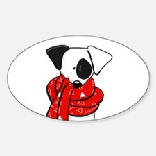Jack Russell Red Scarf Decal
