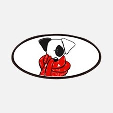 Jack Russell Red Scarf Patches
